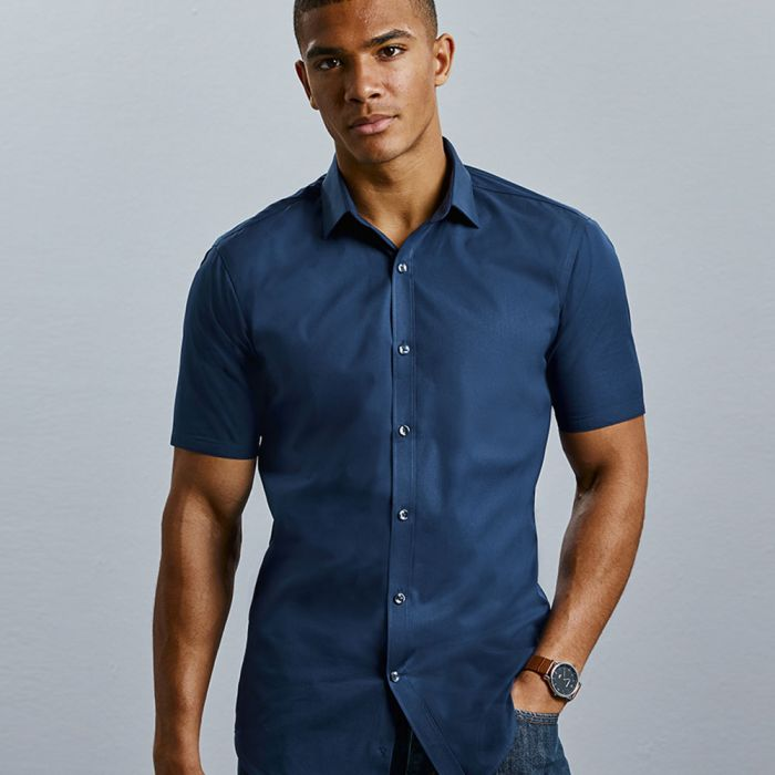 Russell Collection - Men's Short Sleeve Ultimate Stretch Shirt - J961M