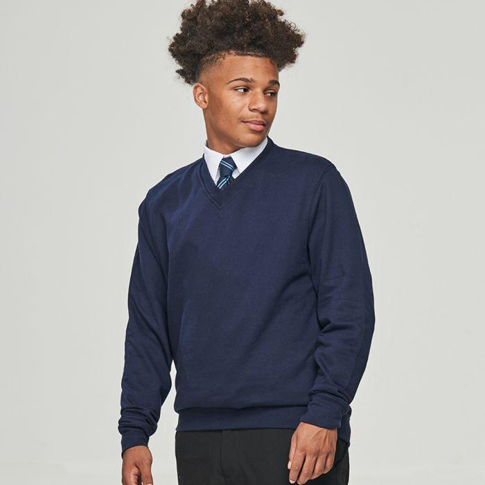 AWDis Academy - V Neck Sweatshirt - AC003