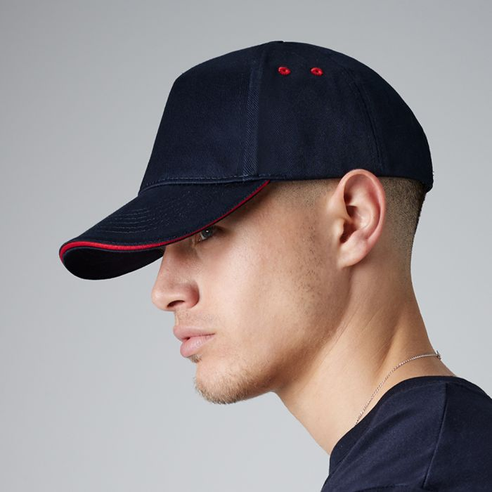 Beechfield - Ultimate 5 Panel Cap with Sandwich Peak - BB15C