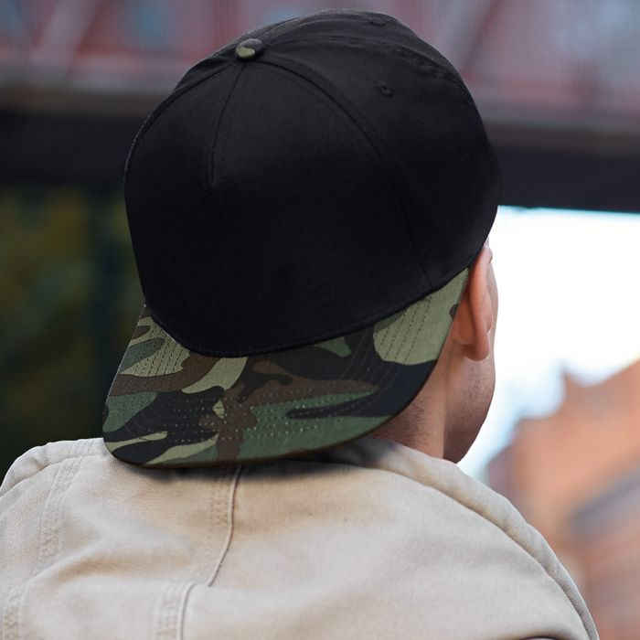 Beechfield Retro Camouflage Snapback Trucker Cap
