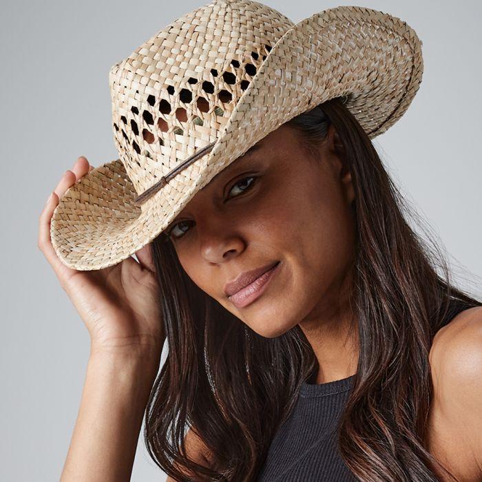 Beechfield - Straw Cowboy Hat - BB735