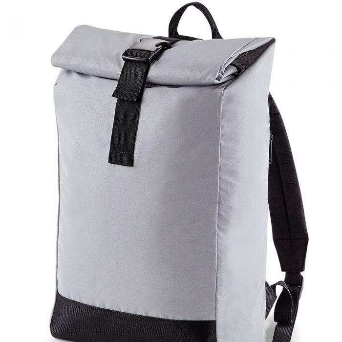 BagBase - Reflective Roll-Top Backpack - BG138