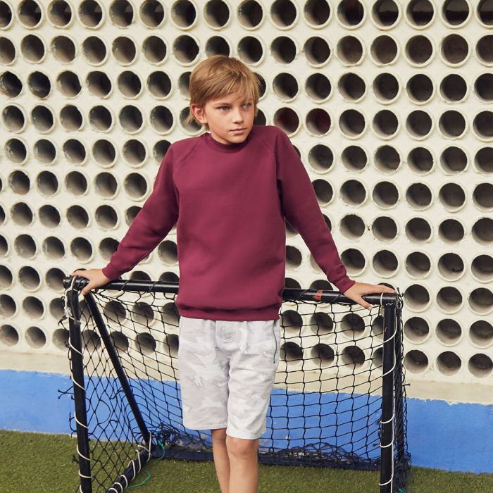 Fruit of the Loom - Classic Kid's Raglan Sweatshirt - F62-039-0