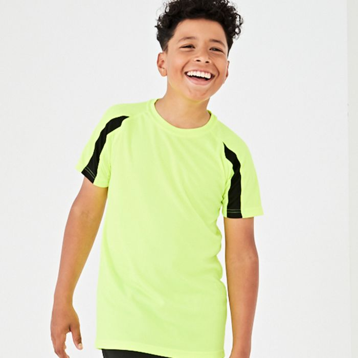 Just Cool by AWDis - Kid's Contrast Wicking T-Shirt - JC003B
