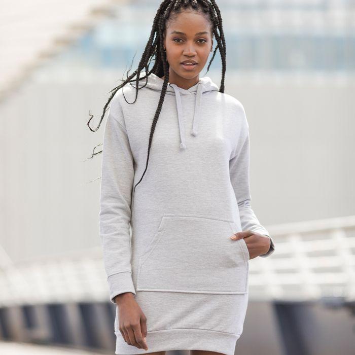 Ladies Women/'s Hooded Longline Top JH015 Hoodie dress