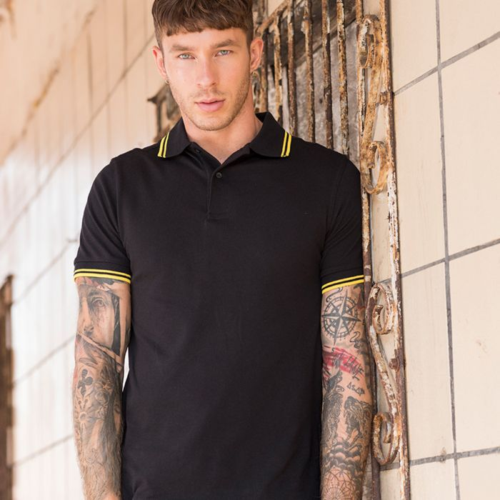 Just Ts & Polos by AWDis - Stretch Tipped Pique Polo Shirt - JP003