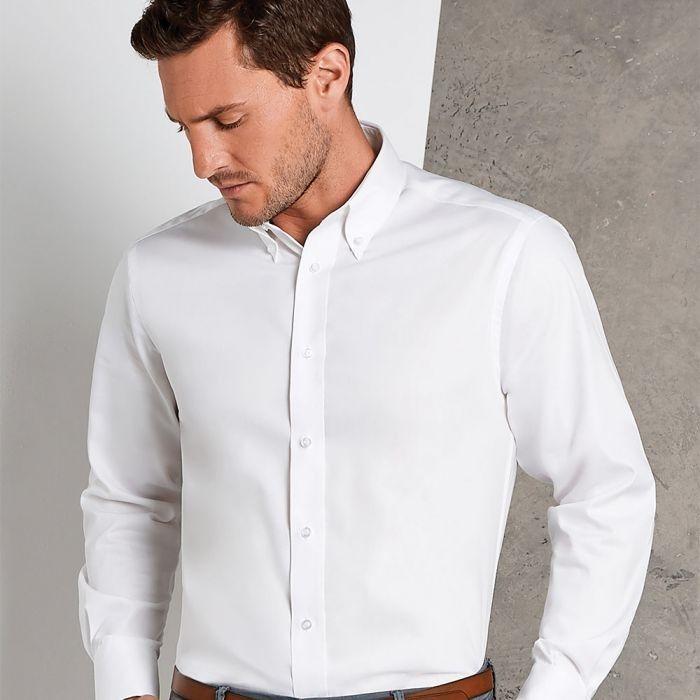 Kustom Kit - Long Sleeve Tailored Oxford Shirt - KK188