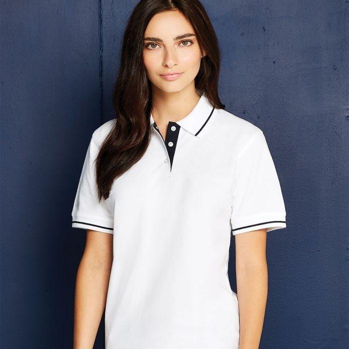 Kustom Kit - Ladies St Mellion Tipped Pique Polo Shirt - KK706