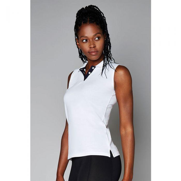 Kustom Kit - Gamegear Ladies Proactive Sleeveless Pique Polo Shirt - KK730
