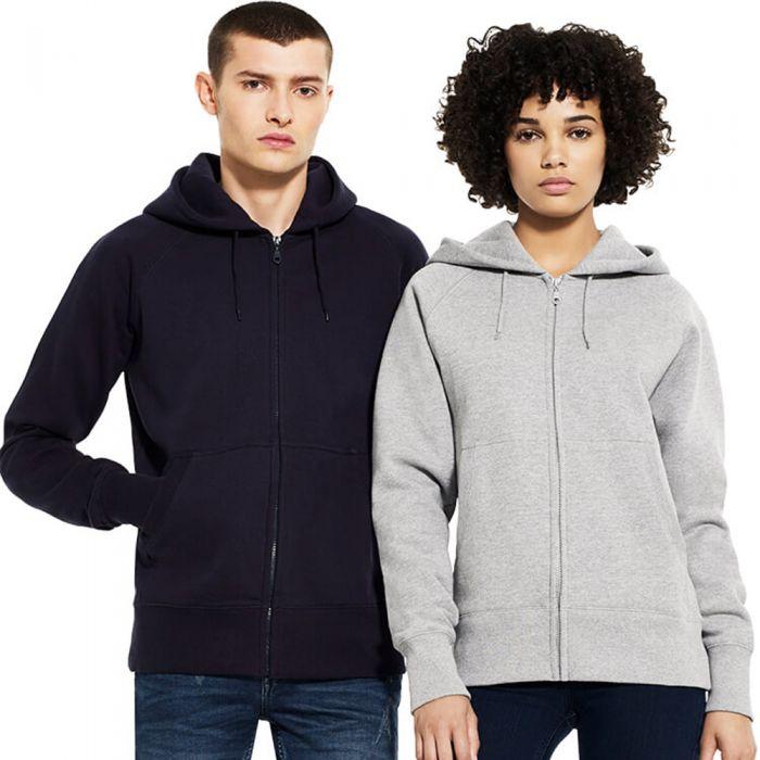 Continental - Unisex Zip Through Hooded Sweatshirt - N51Z