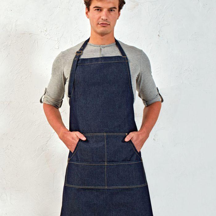 Premier - Jeans Stitch Denim Bib Apron - PR126