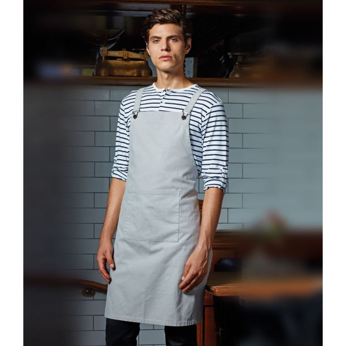 Premier Cross Back /'Barista/' Bib Apron PR129 Premium Workwear Chef Sous