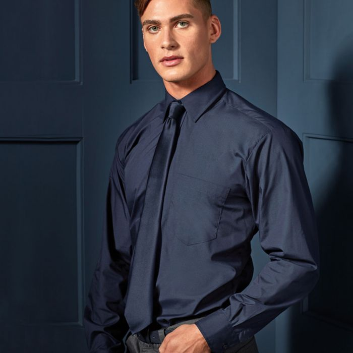 Premier - Long Sleeved Poplin Shirt - PR200