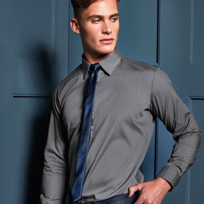 Premier - Long Sleeve Fitted Poplin Shirt - PR204
