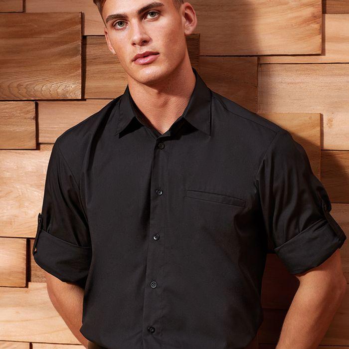 Premier - Roll Sleeve Poplin Shirt - PR206