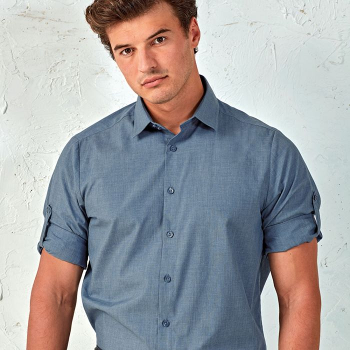 Premier - Cross-Dyed Roll Sleeve Shirt - PR217