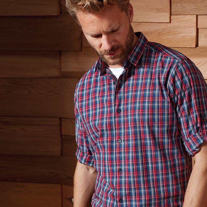 Premier - Sidehill Check Long Sleeve Shirt - PR256