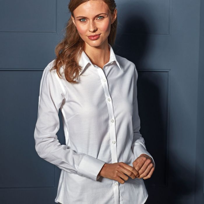 Premier - Ladies Signature Long Sleeve Oxford Shirt - PR334