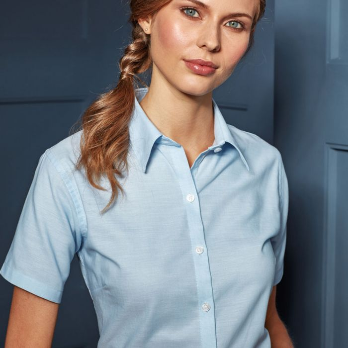 Premier - Ladies Signature Short Sleeve Oxford Shirt - PR336