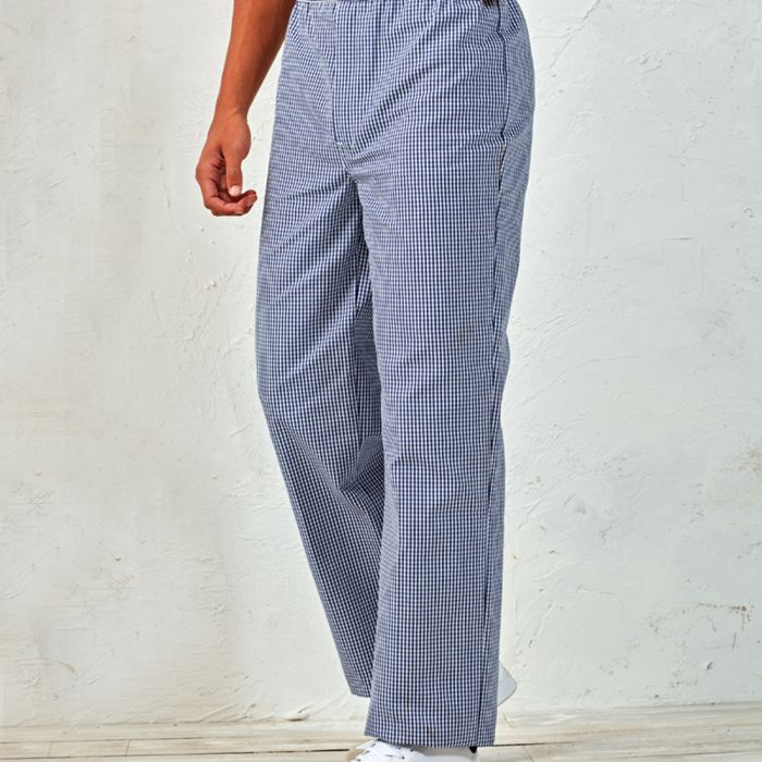 Premier - Pull On Chef's Check Trousers - PR552