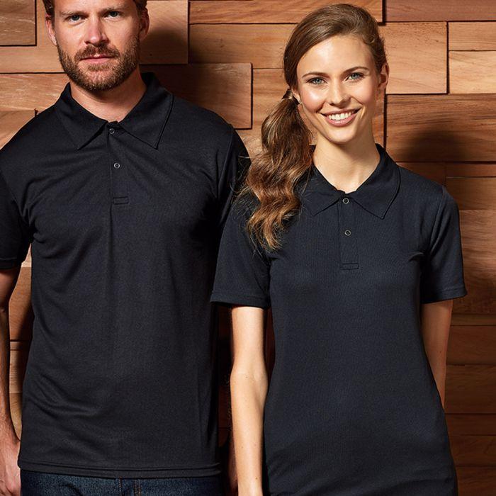 Premier - Coolchecker Stud Pique Polo Shirt - PR612