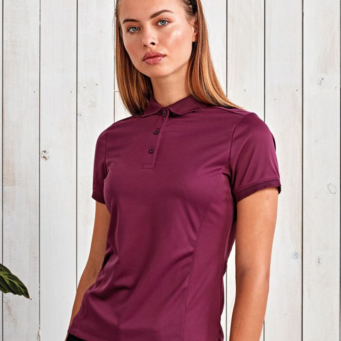Premier - Ladies Coolchecker Pique Polo Shirt - PR616