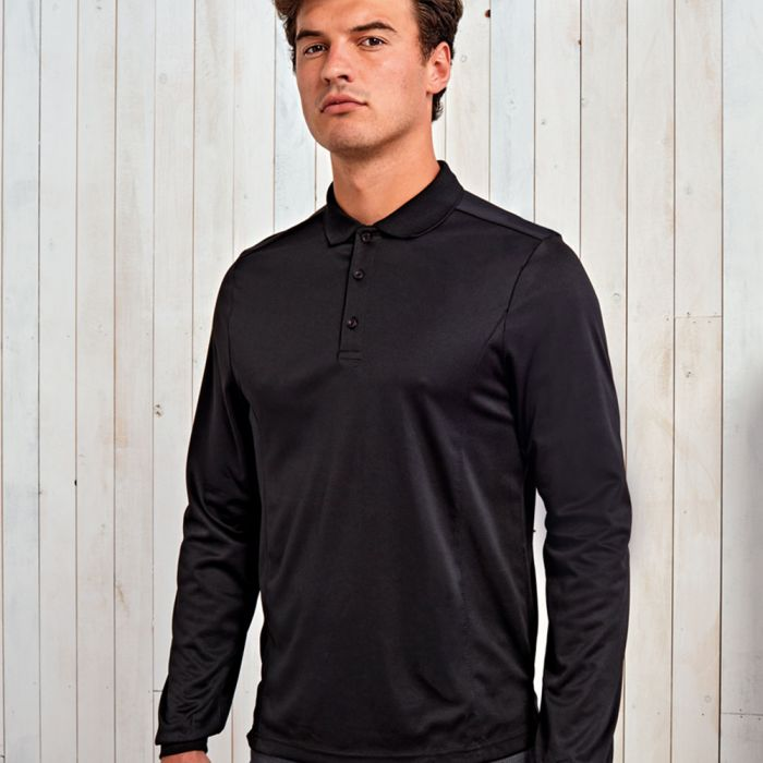Premier - Long Sleeve Coolchecker Pique Polo Shirt - PR617