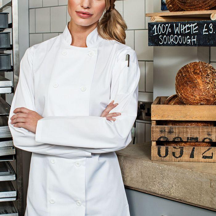 Premier - Ladies Long Sleeve Chef's Jacket - PR671
