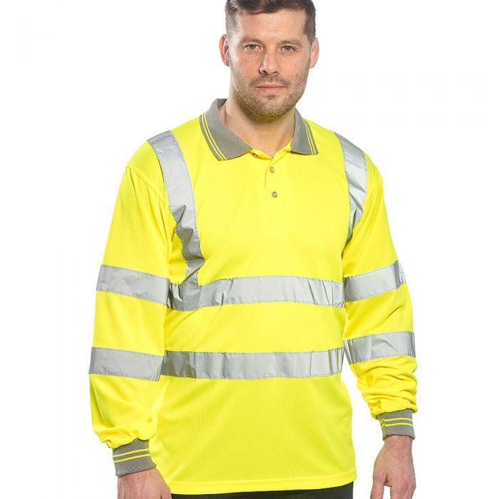 Portwest - Hi-Vis Long Sleeve Polo Shirt - PW059