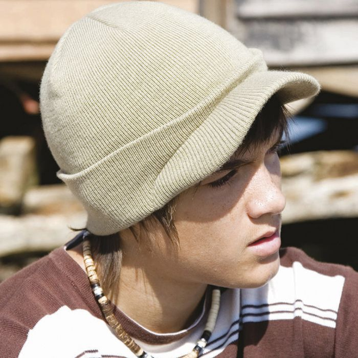 Result - Youth Esco Army Knitted Hat - RC060B