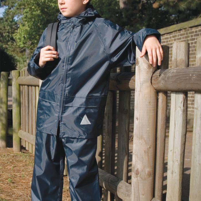 Result - Kids Waterproof Jacket/Trouser Suit in Carry Bag - RS95B