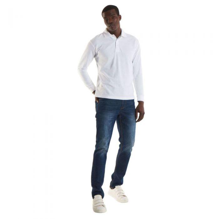 Uneek - Long Sleeve Polo Shirt - UC113