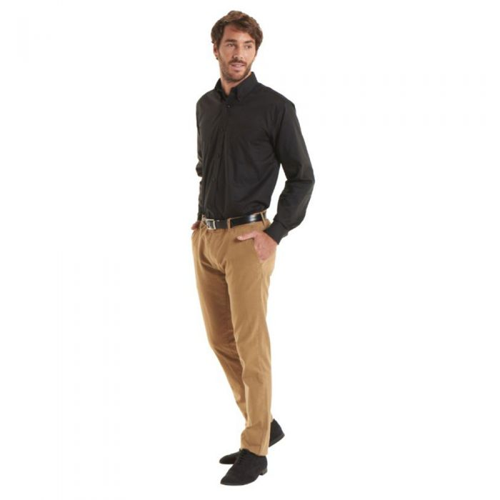 Uneek - Men's Pinpoint Oxford Long Sleeve Shirt - UC701