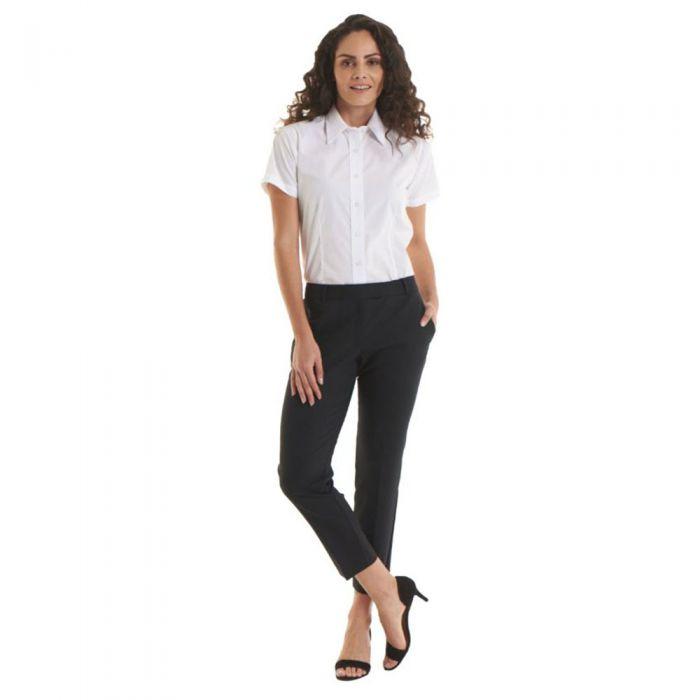 Uneek - Ladies Poplin Short Sleeve Shirt - UC712