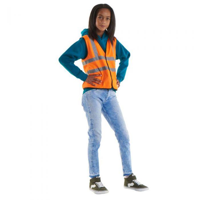 Uneek - Children's High Visibility Waist Coat / Vest - UC806