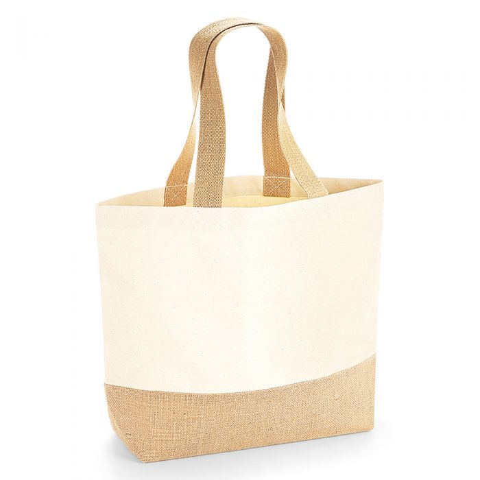 details for better 2019 authentic Westford Mill - Jute Base Canvas Tote Bag - WM451