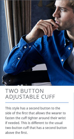 Two Button Adjustable Cuff