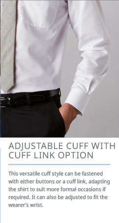 Adjustable Cuff with Cuff Link Option
