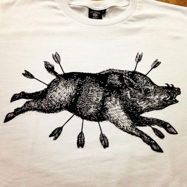 1 colour boar print